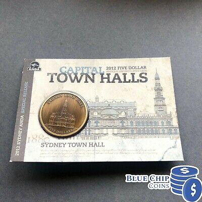 2012 RAM $5 Antique Unc Sydney Town Hall Coin Anda Fair Release Numbered: