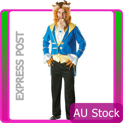 Mens Adult The Beast Costume Prince Charming Disney Beauty And The Beast Outfits
