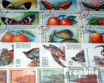 Madagascar 100 different stamps