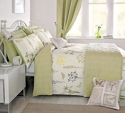 Meadow Butterfly Green Check Pair Of Mock Oxford Pillowcases #euqinatob *cur*
