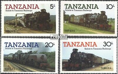 Tanzania 268-271 (complete issue) unmounted mint / never hinged 1985 Locomotives