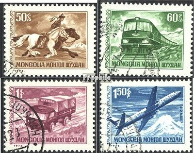 Mongolia 764-767 (complete issue) used 1973 clear brands: Trans