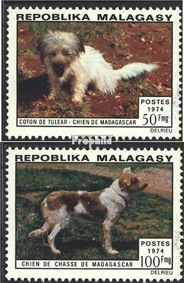 Madagascar 726-727 (complete issue) unmounted mint / never hinged 1974 Dogs
