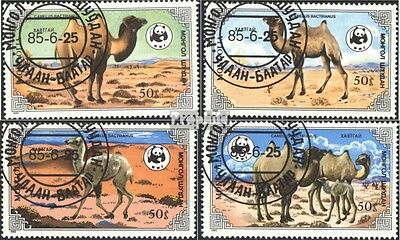 Mongolia 1707-1710 (complete issue) used 1985 house camels
