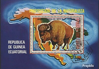 Equatorial-Guinea block271 (complete issue) used 1977 north ame
