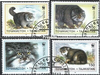Tajikistan 94-97 (complete issue) used 1996 Conservation: manul