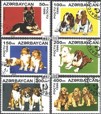 Aserbaidschan 306-311 (complete issue) used 1996 Puppies
