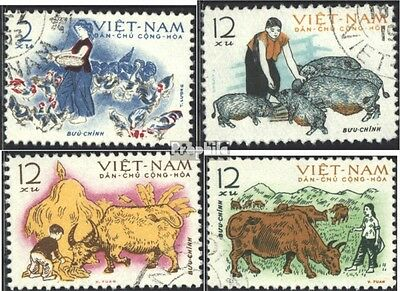 Vietnam 236-239 (complete issue) used 1962 Rearing of Pets