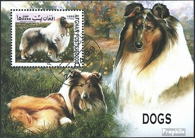 Afghanistan block109 (complete issue) used 1999 Dogs