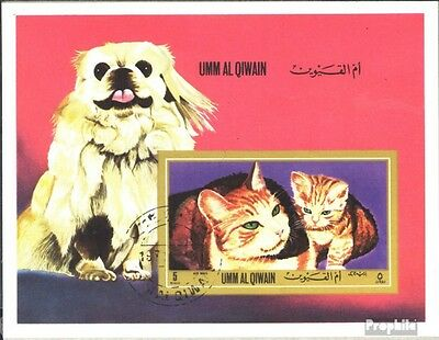 Umm al Qaiwain block55b (complete issue) used 1972 Dogs and Cat