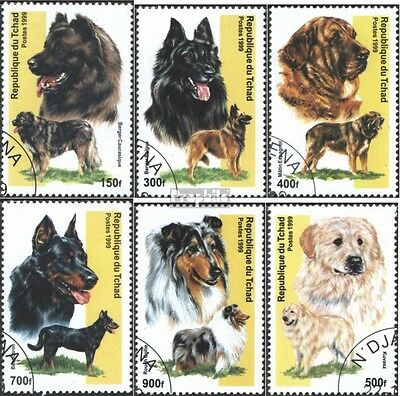 Chad new 1999A-1999F (complete issue) used 1999 Dogs