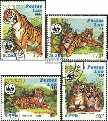 Laos 706-709 (complete.issue) used 1984 Worldwide Conservation: