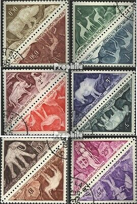 Chad P23-P34 Couples (complete issue) used 1962 prehistoric. Ro
