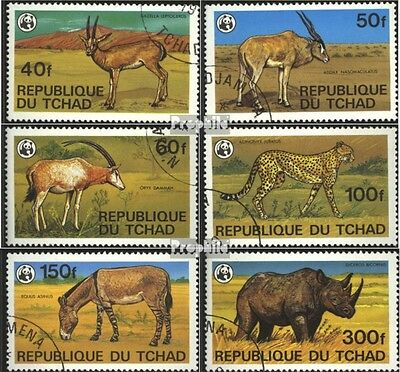 Chad 849-854 (complete issue) used 1979 of Extinction Endangere