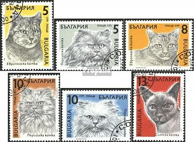 Bulgaria 3808-3813 (complete issue) used 1989 Cats