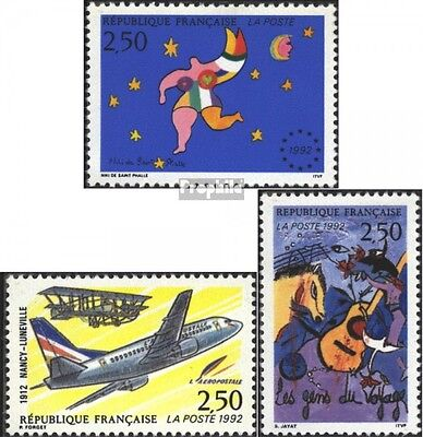 France 2924,2925,2932 (complete issue) used 1992 special stamps