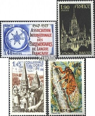 France 2040,2041,2042,2043 (complete issue) unmounted mint / never hinged 1977 s