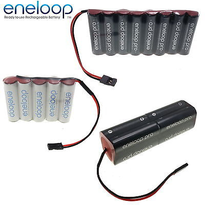 PANASONIC ENELOOP 4.8v 6v 7.2v 9.6v AA & AAA Receiver / Transmitter Battery Pack