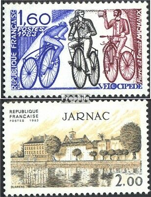 France 2413,2414 (complete issue) used 1983 special stamps