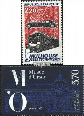 France 2583,2584 (complete issue) used 1986 special stamps