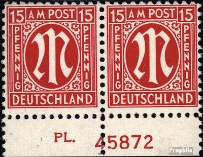 Bizonal (Allied Cast) 8 with Plate number unmounted mint / never hinged 1945 on-