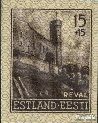 Estonia (German.cast.2.world.) 4U, ungezähnt 2. Reprint with hinge 1941 long Her