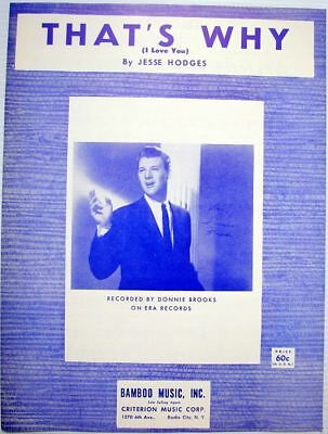 JESSE HODGES Sheet Music That's Why I Love You MINT