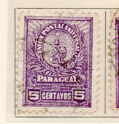 Paraguay 1901-02 Early Issue Fine Used 5c. 154882