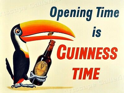 1938 Guinness Stout Beer Vintage Style Advertising Poster - 20x28