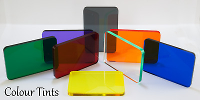 Acrylic Sheets Perspex Yellow Red Blue Orange Green Translucent Colours 3Mm