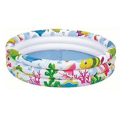 42'' Kids Paddling Garden 3 Ring Sea World Pool Swimming Outdoor Fun Inflatable