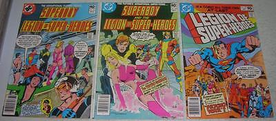SUPERBOY & LEGION OF SUPER-HEROES 257 258 259 (#1) (DC Comics 1979) (VF-)