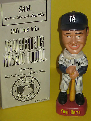 Yogi  BERRA - Bobblehead in orig box = New York YANKEES  = 9  1/2  inches tall