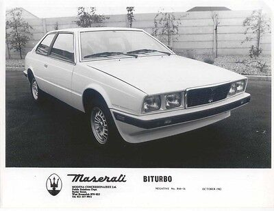 Maserati Biturbo October 1982 Press Photo