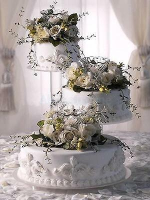 3 Tier Clear Acrylic Cascade Wedding Cake Stand Party Baby Shower Display US