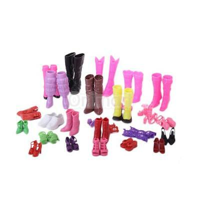 Moda 25 Pares De Zapatos Diferentes Para Fashion Barbie Barbie Doll Shoes 25 New