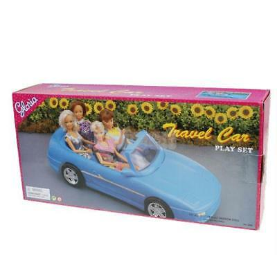 COCHE CONVERTIBLE CABRIOLET Para Barbie, Con 4 Asientos, Azul - Barbie Car New