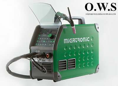 Migatronic PI 200 AC/DC TIG WELDING MACHINE PULSE AIR COOLED 240V WELDER