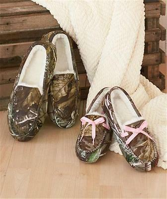 Men's Or Women's Northern Trail Camouflage Moccasin Slippers Shoes-Various Sizes