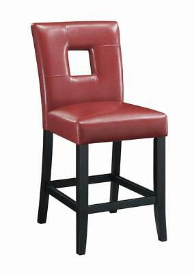 Newbridge Red Vinyl Counter Height Stool Chair by Coaster 103619RED - Set of 2