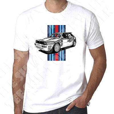 Stripe Lancia Delta Integrale Rally Car HF Mens 100% Cotton T-shirt