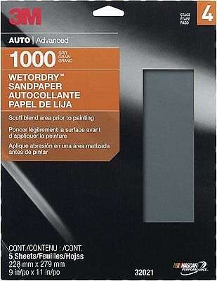 """3M 32021 Imperial Wetordry 9"""" x 11"""" 1000 Grit Sheet"""