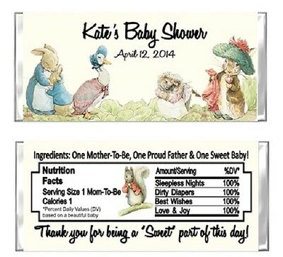 Peter Rabbit Beatrix Potter Baby Shower Party Candy Wrappers Favors Custom