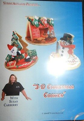 3-D Christmas Cookies DVD! YummyArts! New! Factory Sealed!