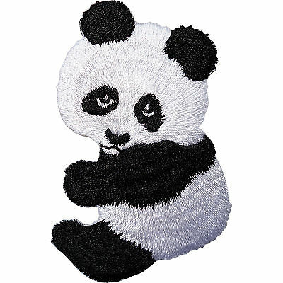 Panda Embroidered Iron / Sew On Patch Clothes Jacket T Shirt Jeans Bag Hat Badge