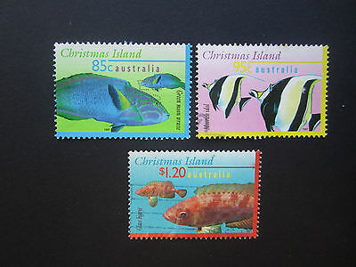 Christmas Island Stamps: 1997 Fish Set of 3 USed