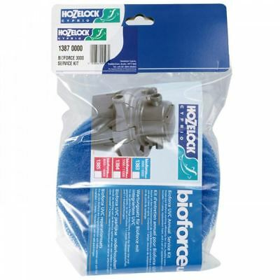 Hozelock 1387 Bioforce 3000 UVC Annual Service Kit *GENUINE*