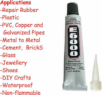 E6000 Compatible Glue 9ml Clear  Epoxy Resin Sealant Craft Nail Jewelry 1 pack