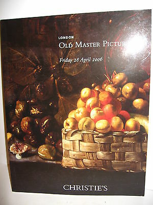 OLD MASTER PICTURES Christie's Auktionskatalog London 2006 (WR6)