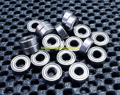 "Metal Shielded Ball Bearing Bearings R2-6z 5 Pcs R2-6zz 1//8/"" x 3//8/"" x 9//64/"""